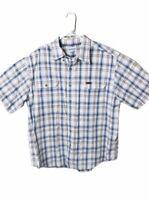 Carhartt Men's Size XL Short Sleeve Button Front Shirt Multi Color