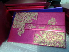 100 Personalised Indian Muslim Hardboard Notebook Wedding Invitations