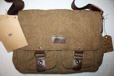 SMRITI Retro Cotton Small Messenger Bag Coffee Brown