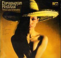 TRIOS LOS GRANADOS paraguayan festival EROS 8025 uk saga LP PS VG/EX