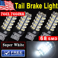 4x Pure White High Power T20/7443/7444NA 68smd Tail Brake Stop LED Light Bulbs