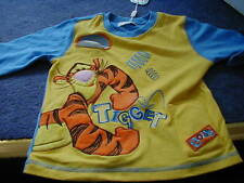 DISNEY STORE TIGGER BOING BOUNCING SOUND 3D EFFECT TOP 3/4 YEARS BRAND NEW