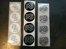 Ford RS wheel centre cap stickers RS2000 RS1600i Series 1, 2 RS Turbo NEW £6.75!