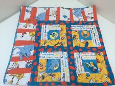Dr Seuss Cat In Hat Grinch Hand Made Quilt Horton Green Eggs And Ham 46""