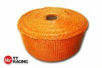 "Orange Fiberglass Exhaust Heat Wrap 2"" x 33'F 10M +10 Stainless Steel Ties Car"