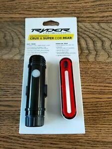 RYDER Crux Front & Super Cob Rear USB Rechargeable Lights