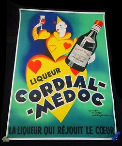 1930s French Orig. Advertisement Poster Cordial Medoc by Henry Le Monnier (Yir)