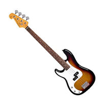 SX LEFT HAND ELECTRIC BASS PRECISION STYLE IN SUNBURST FREE GIG BAG & DELIVERY