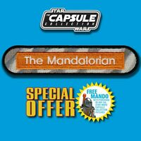 "FREE MANDO OFFER!! Kenner STAR WARS ""The Mandalorian"" name Capsule 5"" patch"