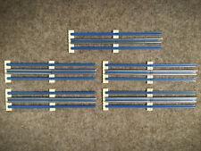 Lego Eisenbahn 12V - 10er-Set gerade Strom Schienen (40 Teile) - Geraden blau