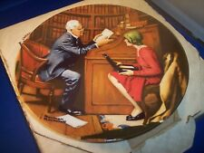 'The Professor' by Norman Rockwell, Knowles Collector Plate