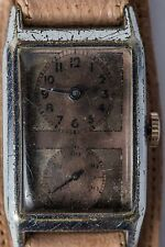 VINTAGE MAN'S A VERY RARE ANCRE DUO DIAL DOCTORS WRISTWATCH CIRCA 1930'S