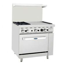 Atosa Usa Agr 2b24gr Lp 36 Gas Restaurant Range 1 Standard Oven 2 Open