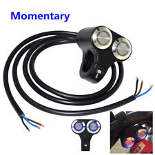 Universal 22mm CNC Motorcycle Dual Switch Momentary Button Blue LED Waterproof