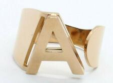 Anello Donna Acciaio Lettera Iniziale Nome Colore Oro Rosa E Argento Ring
