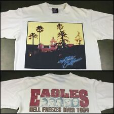 Vintage Mens Xl 1994 90s The Eagles Hotel California Hell Freezes Over T-Shirt