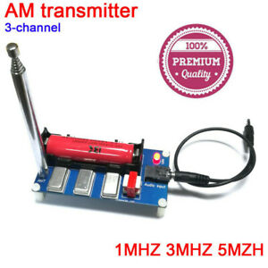 3-Channel AM Radio Transmitter w/ Antenna Audio Cable 1MHz 3MHz 5MHz Finished 1P
