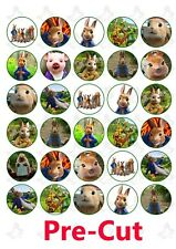30 Peter Rabbit Movie edible wafer paper cupcake toppers PRE CUT