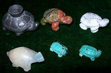 Delightful collection ,Miniature Tortoise/Turtle Figurines-Minerals,Pewter etc.