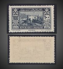 1930 LIBANON LEBANON RUINS AT BAALBEK 100P BLACK MINT HINGED SCT. 134 MI.185