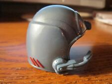 Action Figure Helmet w/ Mic Gray Red Stripes Replacement Accessory Doll Hat