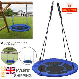 100cm Kids Rope Swing Toy Giant Nest Web Hanging Tree Swing Seat Round Backyard