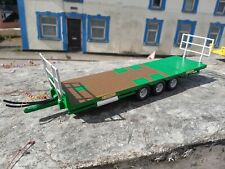 BRITAINS CONVERSION DOOLEY BALE  TRAILER  GREEN FOR TRACTOR SIKU