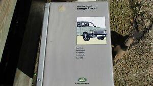 RANGE ROVER CLASSIC WORKSHOP MANUAL SRR660ENWM 1986-1989