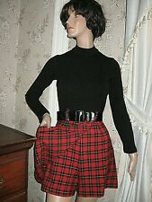 0ffe082a781 VINTAGE BLACK RIBBED WOOL KNIT RAYON RED PLAID ROMPER BELT-ALL THAT JAZZ