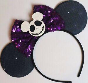 Halloween Minnie Mouse Jack Ears Purple Mickey Mouse Sequin Halloween HANDMADE