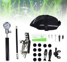 Fahrrad Reparatur Werkzeug Set MTB Multitool mit Mini Luftpumpe + Fahrradtaschen