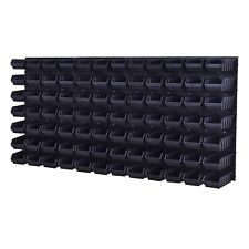 Stapelboxen Werkzeugwand 84 Boxen Montagewand Blau Schwarz
