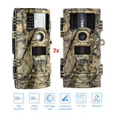 2PCS 20MP 1920X1080P Hunting Trail Camera Digital Animal Cam Infrared Waterpoof