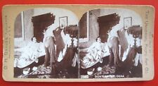 """ANTIQUE GH GRAVES STEREOVIEW~COUPLE IN BEDROOM~""""DON'T SWEAR, DEAR"""""""
