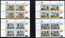 CISKEI 1985 MNH GIRL GUIDES SET BLOCKS OF 4