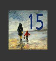 🏠Civico In Ceramica 15*15cm Personalizzato Con La Tua Via E Civico unico