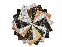 """10 10"""" Quilting Fabric Squares FALLING LEAVES/BUY IT NOW!!!10 DIFFERENT"""