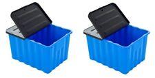 2 x Kunststoffbox Box Lagerbox Aufbewahrungsbox Regalbox Kiste mit Deckel  70L