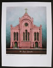 """""""St. Mary's Assumption Church"""" by Jim Blanchard, signed & titled"""