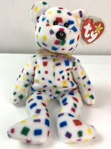 Rare TY 2K Beanie Baby White Confetti Errors and Mistakes