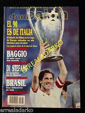 DON BALON 762 MILAN CAMPEON CHAMPIONS 1989-90 / CRUYFF-JUVENTUS BAGGIO-BRASIL