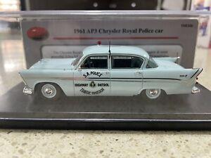 TRAX TRR106, 1:43 scale model of a Chrysler Royal AP3, SA HWY Patrol Police car.