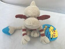 """Rare Smeargle Pokemon Tomy Plush 2001 NEW WITH TAGS NWT #235 Blue Tail 10"""" long"""