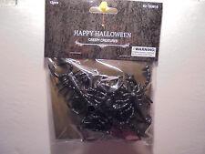 12 Pack Black Scorpions Vinyl Figures Halloween Haunted House Decoration