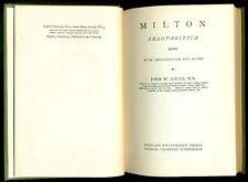 MILTON John. Areopagitica. Oxford University Press, 1954