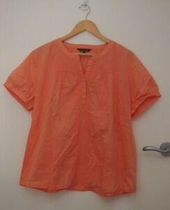 Sportscraft Orange Cotton Summer Top   ~Size 16~