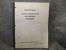 Makino Milling Instruction Manual Electrical Discharge Machine Guide Book 11069