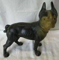 Cast Iron Boston Terrier Dog Door Stop Figure FAST SHIPPING!...
