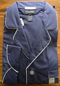 Classic Vintage New Christian Dior Monsieur Navy Blue Lounge Set Pajamas Size XL