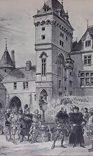 LE DUC JEAN-SANS-PEUR CABOCHE et CAPELUCHE LITHOGRAPHIE ROBIDA PARIS XIXème